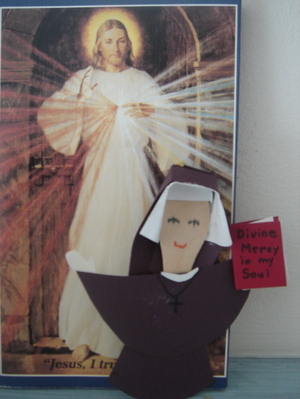 Picture of a doll of St.Faustina